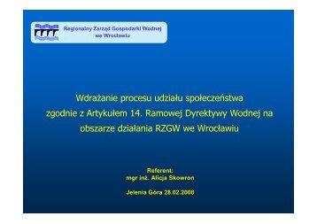 Wdrażanie udziału społeczeństwa zgodnie z art. 14 RDW