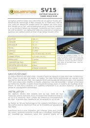SPECIFICATIONS INSTALLATION - Econologie.info