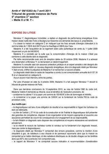 Melle X c/ M. Y - Econologie.info
