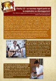 Charity 2.0 – un nouveau regard port sur la coopration au dveloppement