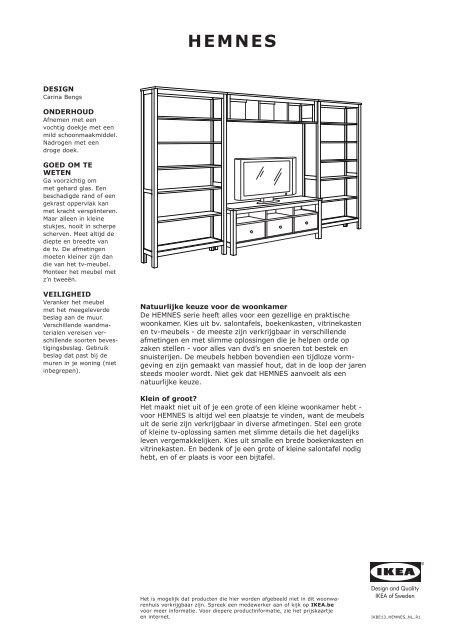 Hemnes Ikea Tv Kast.Hemnes Opbergserie Ikea