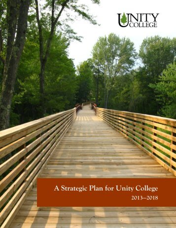 A Strategic Plan for Unity College