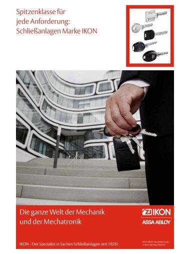Mechanische und Mechatronische Schließanlagen - Ikon