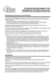 stomaversorgungsmarkt 1998: verwendete systeme, hersteller