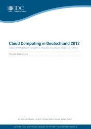 Cloud Computing in Deutschland 2012 - IDC