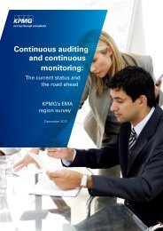 Continuous auditing and continuous monitoring: - KPMG