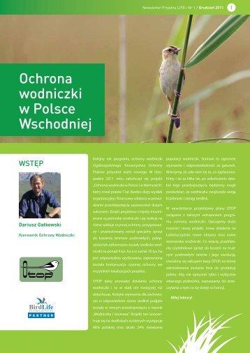 Ochrona wodniczki w Polsce Wschodniej