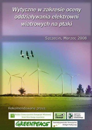 Wytyczne w zakresie oceny oddziaływania elektrowni wiatrowych na