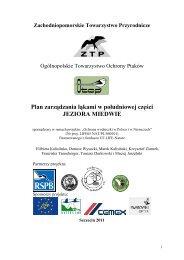 Plan zarządzania łąkami w południowej części JEZIORA MIEDWIE