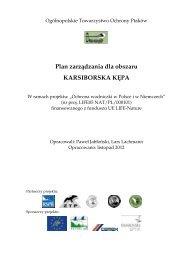 Plan zarządzania dla obszaru KARSIBORSKA KĘPA