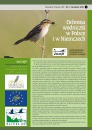 Ochrona wodniczki w Polsce i w Niemczech
