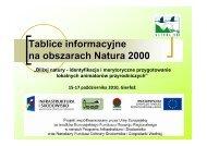 Tablice informacyjne na obszarach Natura 2000