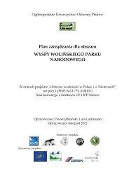 Plan zarządzania dla obszaru WYSPY WOLIŃSKIEGO PARKU NARODOWEGO