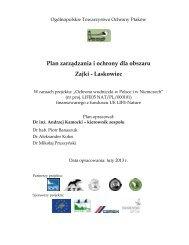 Plan zarządzania i ochrony dla obszaru Zajki Laskowiec