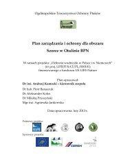 Plan zarządzania i ochrony dla obszaru Szorce w Otulinie BPN