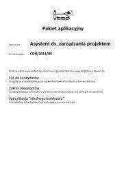 Pakiet aplikacyjny Asystent ds zarządzania projektem