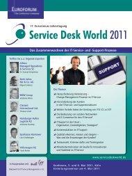 Service Desk World 2011 - IEB