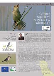 Ochrona wodniczki w Polsce i w Niemczech Witamy