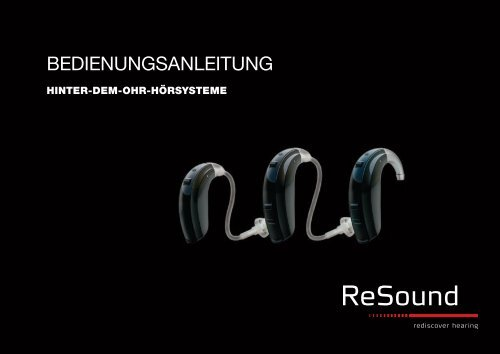 BEDIENUNGSANLEITUNG - GN ReSound