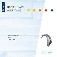 Azure AZ70/80 user guide - GN ReSound GmbH