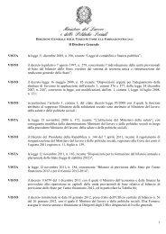 Decreto Direttoriale del 21 dicembre 2012 - Ministero del Lavoro e ...