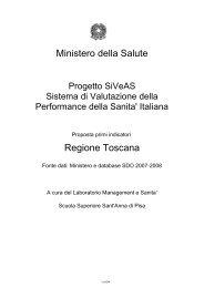 Ministero della Salute Regione Toscana