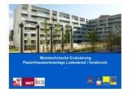 Messtechnische Evaluierung Passivhauswohnanlage ... - IBO