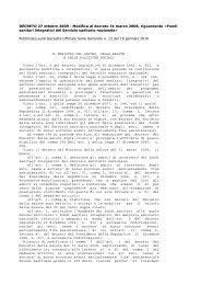 DECRETO 27 ottobre 2009 - Modifica al decreto 31 marzo 2008 ...