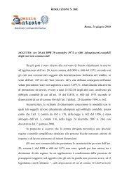 Risoluzione n. 58 del 24/06/10 - Agenzia delle Entrate