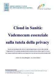 Cloud in Sanità Vademecum essenziale sulla tutela della privacy