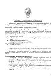 BANDO PER LA CONCESSIONE DI CONTRIBUTI 2008 La ...