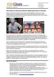 Oud-student van Rijn IJssel Vakschool Wageningen Master of Chocolate