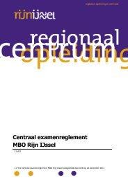Centraal examenreglement MBO Rijn IJssel