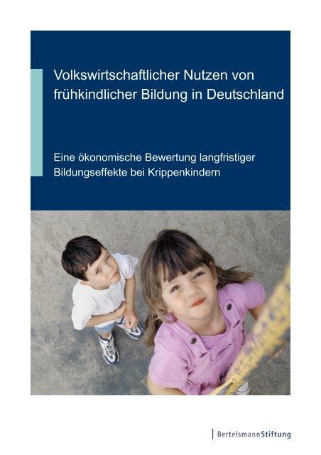 Volkswirtschaftlicher Nutzen von frühkindlicher Bildung in Deutschland