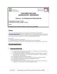 FUNCTIEBESCHRIJVING ADMINISTRATIEF MEDEWERKER Resultaatgebieden