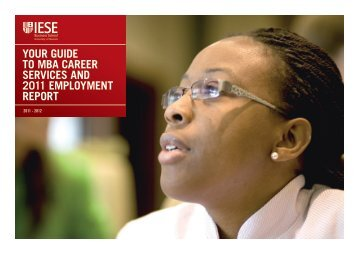 YOUR GUIDE TO MBA CAREER SERVICES AND 2011 ...