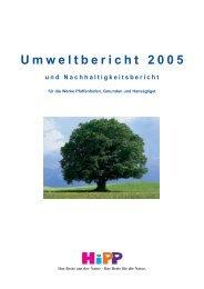 Umweltbericht 2005 und Nachhaltigkeitsbericht - HiPP