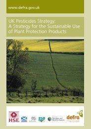 UK Pesticides Strategy: A Strategy for the Sustainable Use of Plant ...