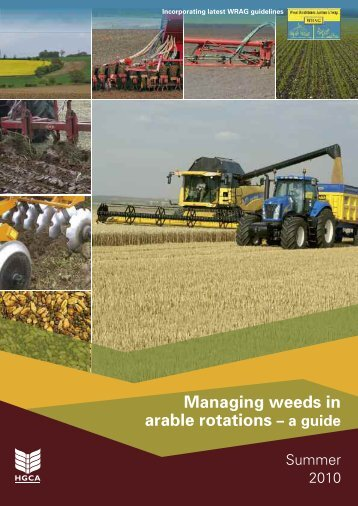 Managing weeds in arable rotations
