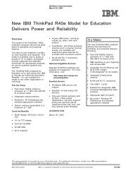New IBM ThinkPad R40e Model for Education Delivers Power and ...