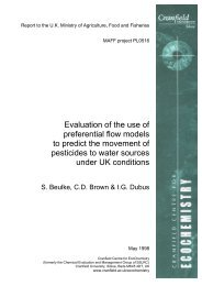 Evaluation of the use of preferential flow models to predict the ...
