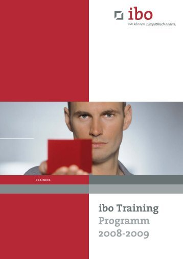 Trainingsprogramm 2008-2009 - Ibo Software GmbH