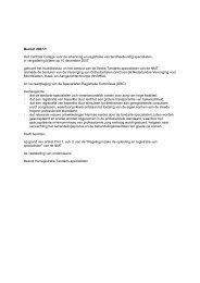 Besluit 2007-1 Het Centraal College voor de erkenning en ... - NMT