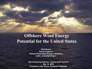 Offshore Wind Energy Potential for the United States