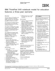 IBM ThinkPad X40 notebook model for education features a three ...