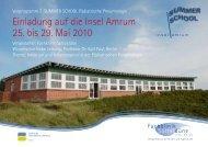 Einladung auf die Insel Amrum 25 bis 29 Mai 2010