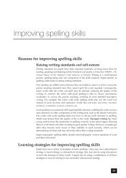 Improving spelling skills