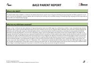 BAS3 Parent Report Early Years - GL Assessment