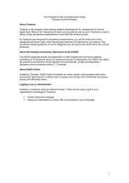 HADS Online guidance notes - GL Assessment