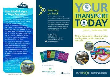 Welcome to Your Transport Today! Fares changing 1 October 2013